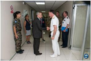 International Organization for Migration (IOM) visits the EU Operation Headquarters