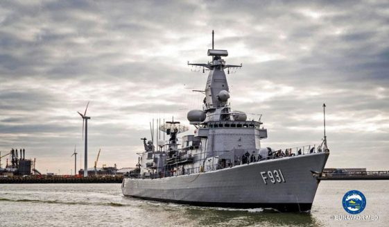 Belgian frigate Louise-Marie joins the Operation Sophia