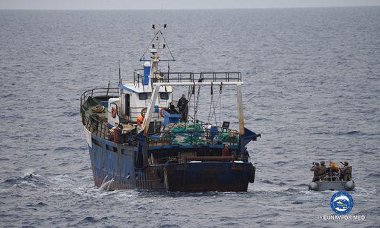 "Maritime security operation at sea for the Spanish Frigate ""Santa Maria"""