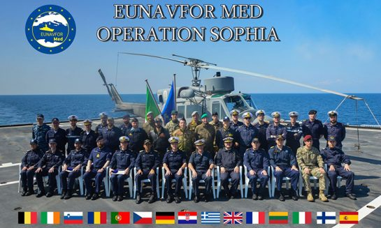 Operation SOPHIA: on board Italian ship San Giusto