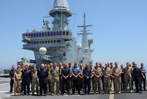 EUNAVFOR MED – Meeting at sea for the units Commanders