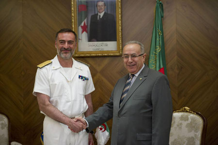 Operation Commander meeting with Algerian authorities