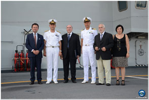 Catania: meeting with local authorities on board ITS Cavour