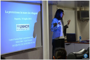 UNHCR: first training section on board of ITS Cavour
