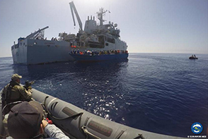 FGS SCHLESWIG HOLSTEIN and HMS ENTERPRISE carried out rescue at sea