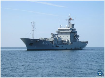 FGS WERRA involved in rescue activity.