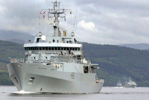 HMS Enterprise rescues 453 migrants