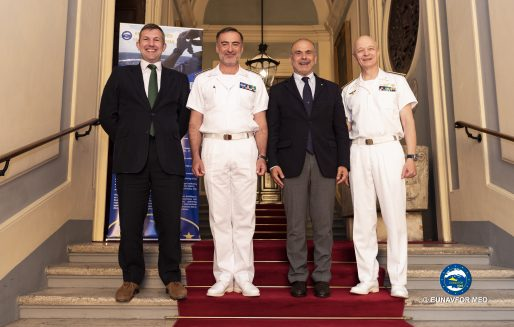 The shipping industry and EUNAVFOR MED operation Sophia met to improve mutual understanding and cooperation in the Central Mediterranean Sea.